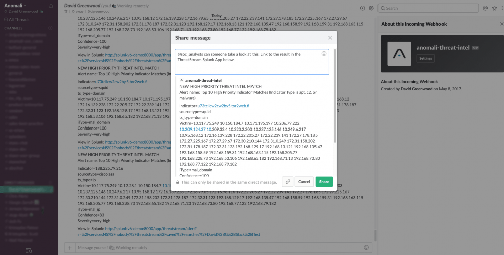 Automate Your Workflows With Threat Intelligence Alerts in Slack